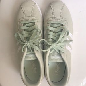 Light mint Adidas sneakers